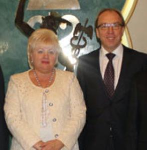 Геннадий Чижиков с Ольгой Пшонка